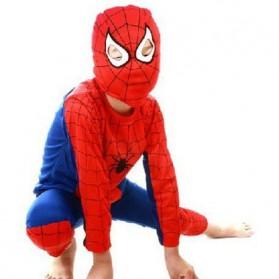 Kostum Cosplay Anak Karakter Spiderman - Size M - Red/Blue - 1