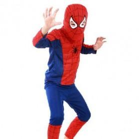 Kostum Cosplay Anak Karakter Spiderman - Size M - Red/Blue - 2