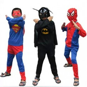 Kostum Cosplay Anak Karakter Superman - Size M - Blue/Red - 4