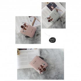 Ms. Embroidered Dompet Wanita Coin Small Animals Cute Pattern - WA346 - Pink - 2