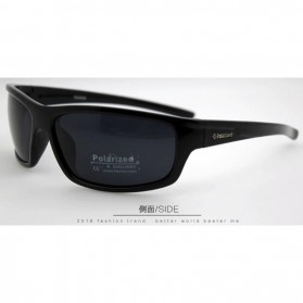 TAGION Kacamata Pria Polarized Sunglasses - TG5104 - Black - 3