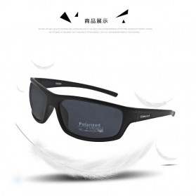 TAGION Kacamata Pria Polarized Sunglasses - TG5104 - Black - 6