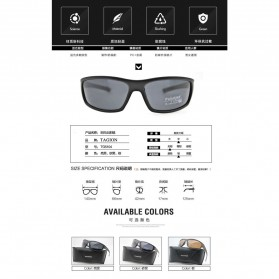 TAGION Kacamata Pria Polarized Sunglasses - TG5104 - Black - 8
