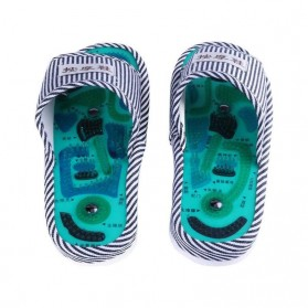 Sandal Pijat Akupuntur Magnetic Health Care Reflexology Slipper - JOCE - Blue