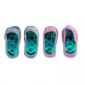 Sandal Pijat Akupuntur Magnetic Health Care Reflexology Slipper - JOCE - Blue - 6