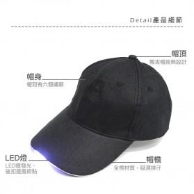 Topi Baseball Cap with 5 LED Light  - QCAD3W - Black - 3