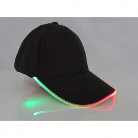 FAVOLOOK Topi Baseball Cap with Glowing RGB LED Light  - WXYQA - Black