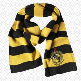 Syal Lambang Asrama Sekolah Sihir Hogwarts Harry Potter - Hufflepuff - Yellow with Black Side
