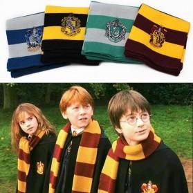 Syal Lambang Asrama Sekolah Sihir Hogwarts Harry Potter - Hufflepuff - Yellow with Black Side - 2