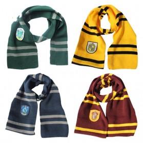 Syal Lambang Asrama Sekolah Sihir Hogwarts Harry Potter - Hufflepuff - Yellow with Black Side - 3