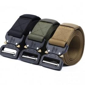 Miluota Tali Ikat Pinggang Canvas Army Military Tactical 125cm - MU056 - Black - 2