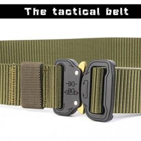Miluota Tali Ikat Pinggang Canvas Army Military Tactical 125cm - MU056 - Black - 4