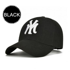 Topi Baseball Cap Snapback Model NY - TB-02 - Black