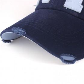 Xthree Topi Baseball Cap Snapback Model NY Air Force - ZZ801 - Black - 5