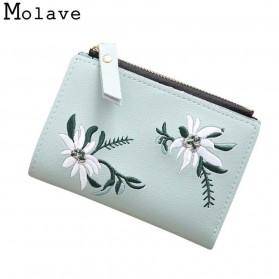 MOLAVE Dompet Wanita Floral Purse Wallet - S71205 - Light Green