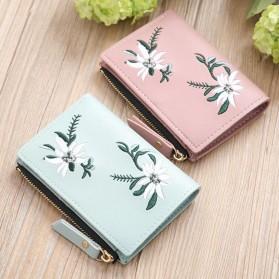 MOLAVE Dompet Wanita Floral Purse Wallet - S71205 - Light Green - 2