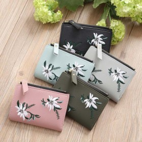 MOLAVE Dompet Wanita Floral Purse Wallet - S71205 - Light Green - 9
