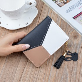 GEONYIEEK Dompet Wanita Trendy Purse Wallet - B393 - Black
