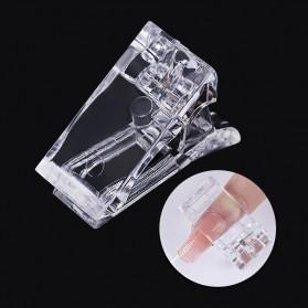 Y&W Penjepit Clip Kuku Nail Art Tips Quick Building Gel Extension - C3 - Transparent - 4