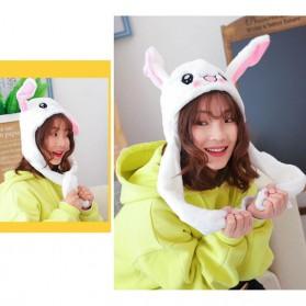 Swokii Topi Kelinci Kuping Gerak Goyang Dancing Dancing Plush Hat - 146886 - White - 2