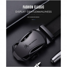 NO.ONEPAUL Tali Ikat Pinggang Luxury Automatic Buckle 3.5cm - N71396 - Black - 9