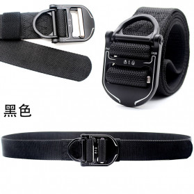 MINGLILONG Tali Ikat Pinggang Canvas Military Tactical Belt - FA38 - Black
