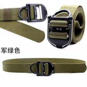 MINGLILONG Tali Ikat Pinggang Canvas Military Tactical Belt - FA38 - Black - 3