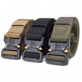 FRALU Tali Ikat Pinggang Pria Canvas Tactical Army Belt - YD376 - Black - 2