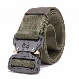 FRALU Tali Ikat Pinggang Pria Canvas Tactical Army Belt - YD376 - Black - 4
