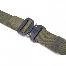 FRALU Tali Ikat Pinggang Pria Canvas Tactical Army Belt - YD376 - Black - 6