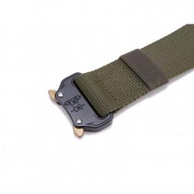 FRALU Tali Ikat Pinggang Pria Canvas Tactical Army Belt - YD376 - Black - 7