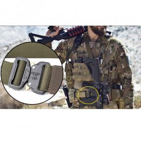 FRALU Tali Ikat Pinggang Pria Canvas Tactical Army Belt - YD376 - Black - 10