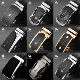 NO.ONEPAUL Tali Ikat Pinggang Luxury Automatic Buckle Y Type 3.5cm - WQE385 - Black - 2