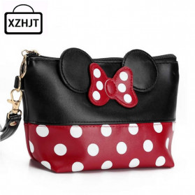 XZHJT Dompet Poutch Clutch Wanita Model Mickey Minney - XZ01 - Black/Red
