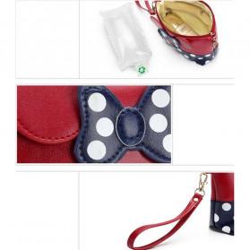 XZHJT Dompet Poutch Clutch Wanita Model Mickey Minney - XZ01 - Black/Red - 8