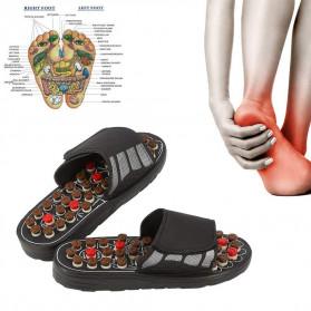 VamsLuna Sandal Pijat Akupuntur Health Care Reflexology Slipper 42-43 - VL-FT10C - Black
