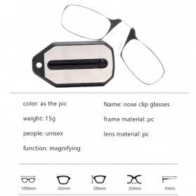 PANDER Kacamata Baca Frameless Clip Nose Mini Reading Glasses Keychain +150 - TR90 - 11