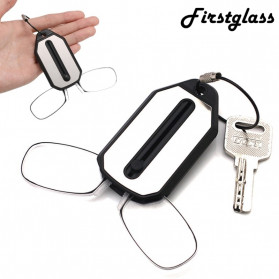 PANDER Kacamata Baca Frameless Clip Nose Mini Reading Glasses Keychain +200 - TR90