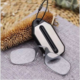 PANDER Kacamata Baca Frameless Clip Nose Mini Reading Glasses Keychain +200 - TR90 - 2
