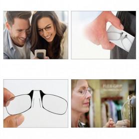 PANDER Kacamata Baca Frameless Clip Nose Mini Reading Glasses Keychain +200 - TR90 - 4
