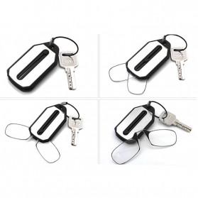 PANDER Kacamata Baca Frameless Clip Nose Mini Reading Glasses Keychain +200 - TR90 - 5