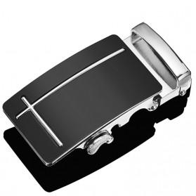 Hotti Kepala Gesper Ikat Pinggang Metal Model 6 - HT0011 - Silver