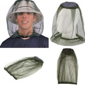 PLAYKING Jaring Topi Mancing Anti Nyamuk Lebah Serangga - T00301 - Green - 4