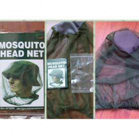 PLAYKING Jaring Topi Mancing Anti Nyamuk Lebah Serangga - T00301 - Green - 6
