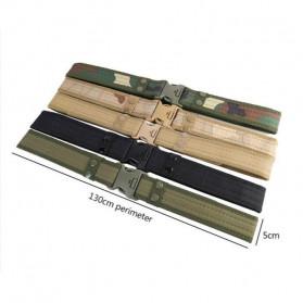 Noocuxuekon Tali Ikat Pinggang Canvas Military Tactical 130cm - F169 - Black - 3