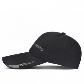 SportsC Topi Baseball Golf Pria Outdoor Fashion Line Cap Long Visor - MZ87 - Black