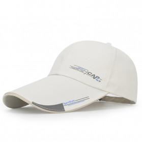 SportsC Topi Baseball Golf Pria Outdoor Fashion Line Cap Long Visor - MZ87 - Black - 3