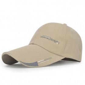 SportsC Topi Baseball Golf Pria Outdoor Fashion Line Cap Long Visor - MZ87 - Black - 4