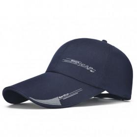 SportsC Topi Baseball Golf Pria Outdoor Fashion Line Cap Long Visor - MZ87 - Black - 5
