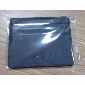 TRASSORY Dompet Kartu Bahan Kulit ID Card Holder Slim Design - 1003 - Black - 5